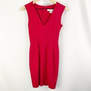 French Connection V Neck Bodycon Dress Size 6